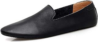 DADIJIER Ocio Mocasines de conducción para los Hombres Punta Estrecha Oxfords Casual Penny Shoes Slip Superior de Cuero en...