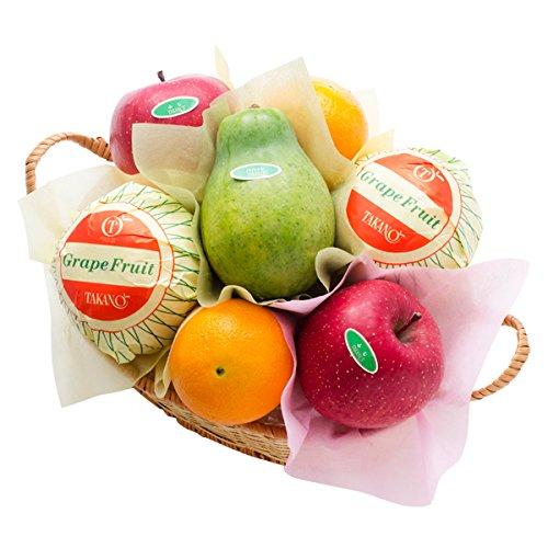 新宿高野 フルーツバラエティーEB #29100 [グレープフルーツ/オレンジ/りんご/パパイヤ] 内祝い ご挨拶 手土産 お中元 果物 詰め合わせ