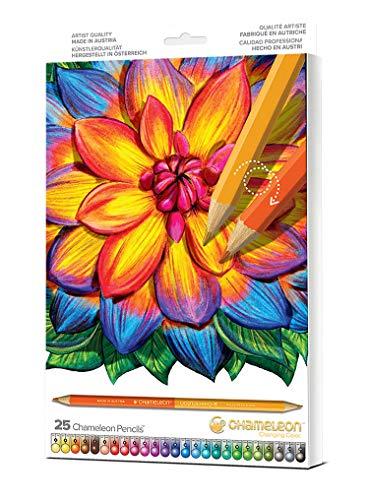 Chameleon Art Products Chameleon Art Products-25 Farbstifte mit 50 Farben (Perfekte farbpaare) -einfach drehen zum mischen, Mehrfarbig, 12x1x1