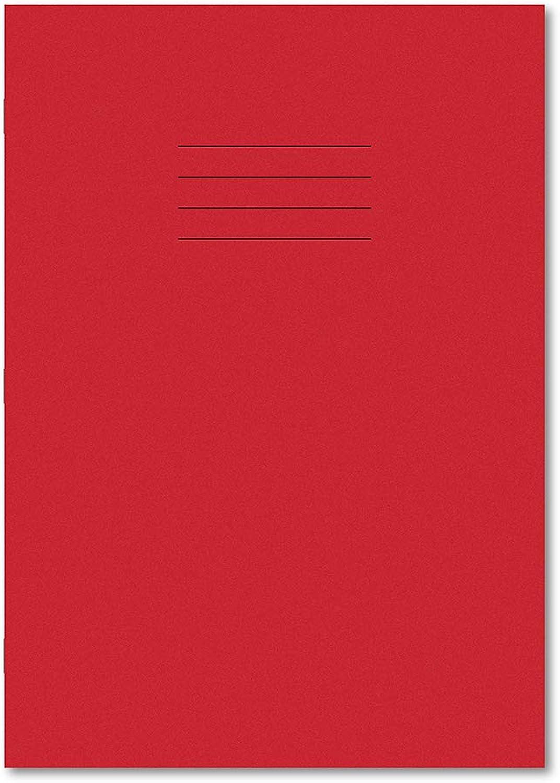 Hamelin A4 15 mm liniert und uni abwechselnd 32 Seiten Heft – Rot (100 Stück) B00TH2P6GK   Elegante Form