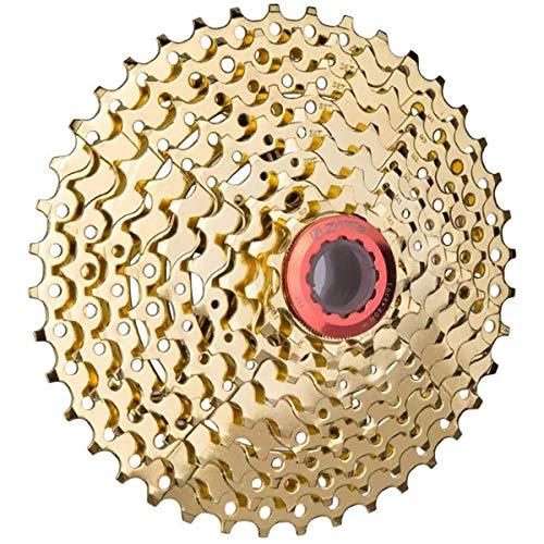 YGMX Kassette 9 Fach Fahrrad Kassetten 11-40T Für Fahrrad Rennrad Mountainbike Nickel Chrom Silber,Gold