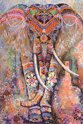 Puzzle Per Adulti , Puzzle Elefante , Puzzle Animale , Puzzle Elefante Dipinto , Puzzle In Legno , Regalo Di Natale (1000 pezzi, Elefant Puzzle)