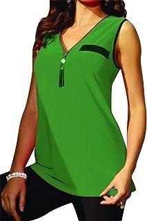 FRPE Women's Casual Tassels Sleeveless Plus Size Slim V Neck T-Shirt Blouse Tank Top