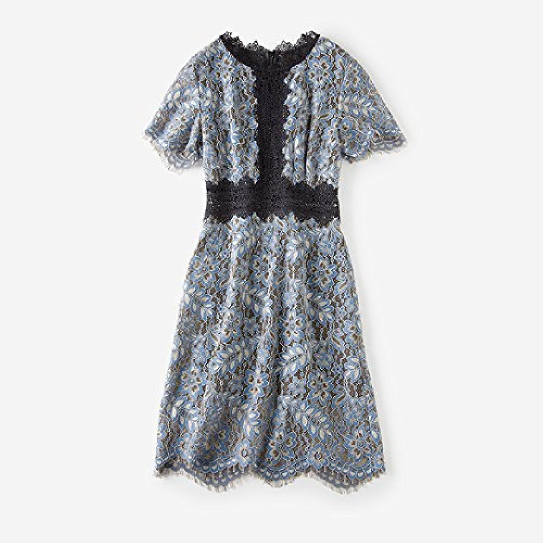 HongLanBai Elegante Frau Mit Exquisiten Positionierung Baumwolle Kurzarm Slim Spitzenkleid Weiblichen Sommer Kleid In Absatz