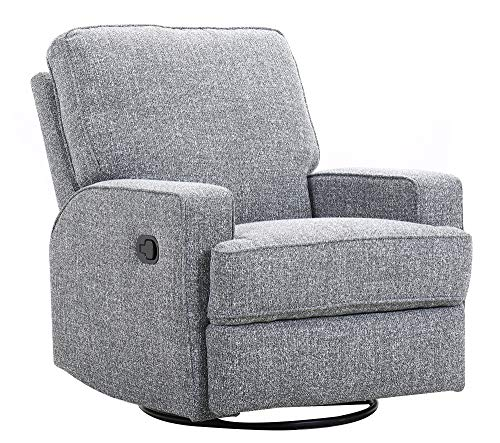 Ravenna Home Swivel Contemporary Glider Recliner Chair