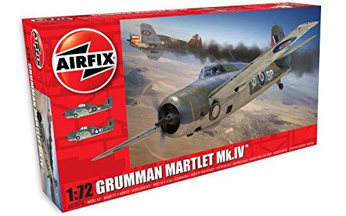 Airfix- Kit de modelismo, avión Grumman Martlet MK.IV (