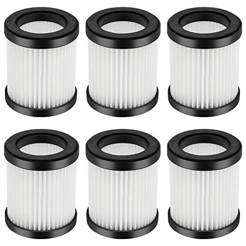 iSingo XL-618A Replacement HEPA Filters Fit for MOOSOO XL-618A Cordless Vacuum(6-Pack)