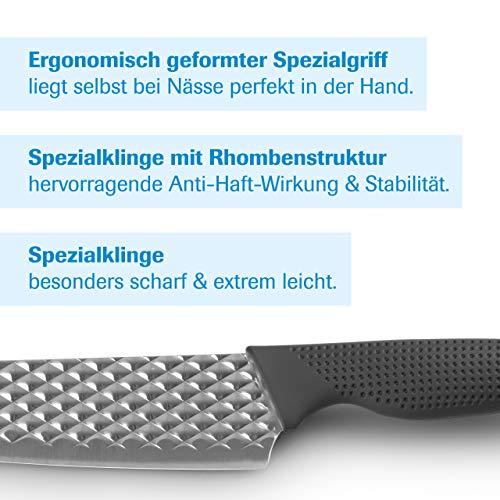 Mediashop Harry Blackstone Airblade Messer Set – scharfe und langlebige Küchenmesser – Kochmesser mit Antihaft-Klinge – Set aus 10 Messern für Jede Gelegenheit - 2