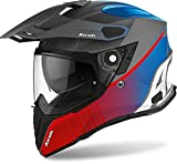 Casco Airoh Commander Progress, Color Azul/Rojo Mate XS