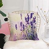 Purer Weicher Kissenbezug Kissenhülle Set,Lavendel, Traumhafter Frühlingstag mit frischen Blüten...