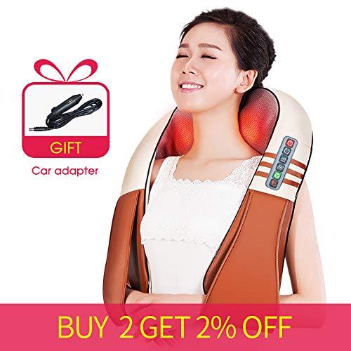 MKLLIJD Form Elektrische Shiatsu Rücken Nacken-Schulter-Körpermassager- Beheizte Kneading Auto/Haupt Massagem