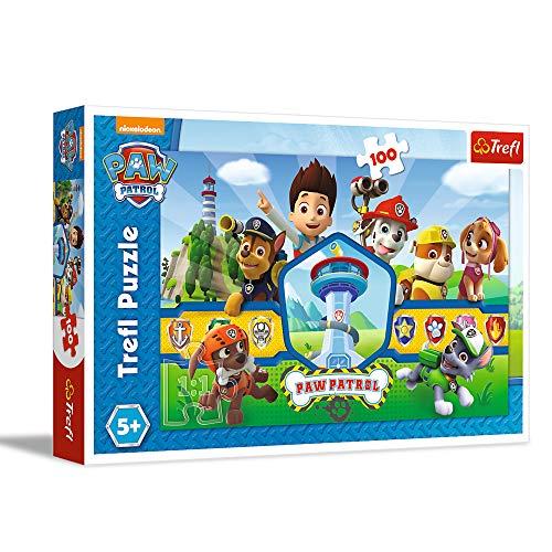 Trefl, Puzzle, Das Heldenteam, 100 Teile, PAW Patrol, für Kinder ab 5 Jahren