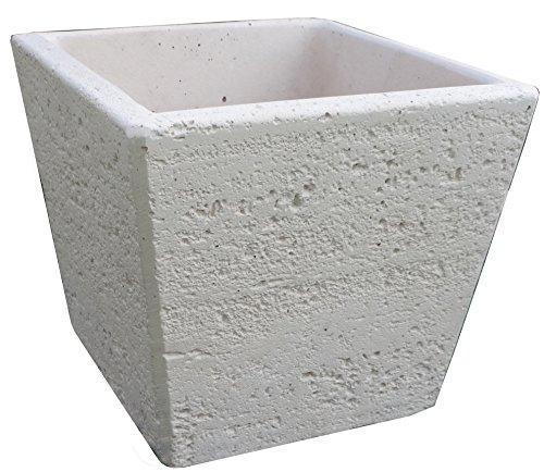 VASO QUADRATO per fontana/punto acqua travertino bianco