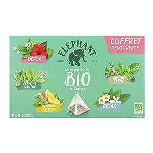 Elephant Bio Infusion Coffret decouverte 5X8 = 40 Sachets - Lot de 2
