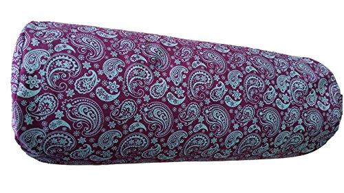 Tvamm-Lifestyle Yoga-Bolster Special, 65 x Ø 22 cm, Buchweizenschalen-gefüllt (Tushar deva)