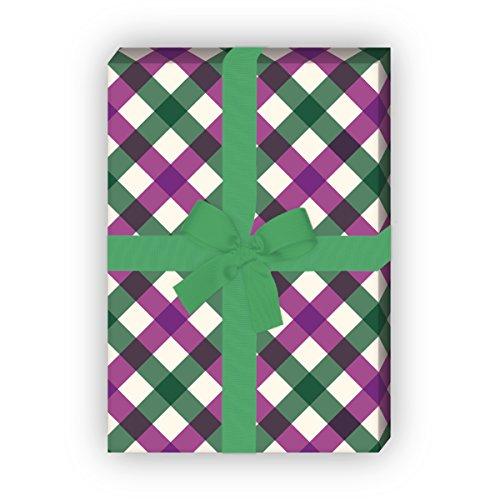Kartenkaufrausch Mooie tafelkleden Karo cadeaupapier set voor leuke cadeauverpakking, designpapier, scrapbooking, 4 vellen, 32 x 48 cm decorpapier, inpakken