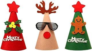 Amosfun Christmas Hats Non-Woven Fabric Headdress Headgear Photo Prop Party Favors for Festival Party Showcase 3pcs
