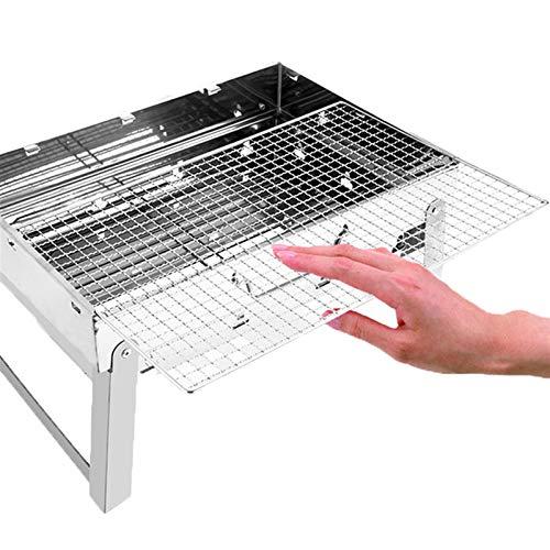 51eQ5BVLCIL. SL500  - MUBAY Holzkohlegrill BBQ für Picknick im Freien Tragbare Grillgrill Edelstahl BBQ Grill Non-Stick-Oberfläche Falten Grillgrill Grill Zubehör