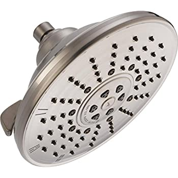 Delta Faucet Single-Spray Touch-Clean Rain Shower Head Stainless RP52382SS