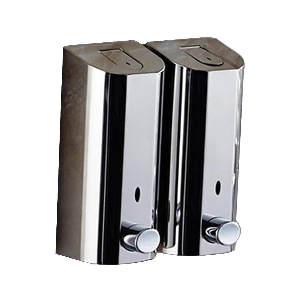 サドル東圧力Kylinssh ダブルソープディスペンサー、500ミリリットル* 2自動液体ディスペンサー、防水、漏れ防止、子供のためのタッチレスソープディスペンサー、キッチン、バスルーム