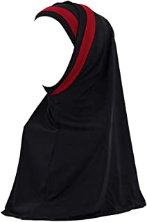 Weiliru Women Solid Color Muslim Headscarf Turban Lightweight Jersey Hijab Scarf Wrap