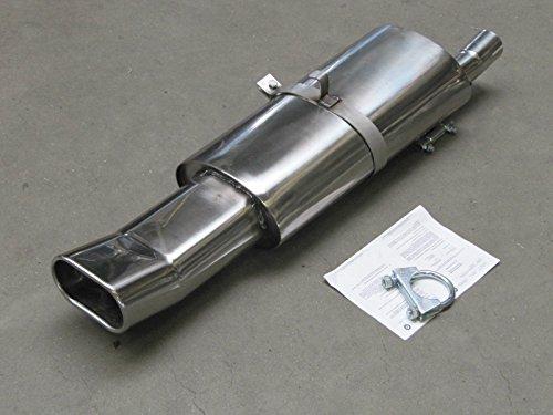 Tubo de escape deportivo de acero inoxidable para Opel Astra F con homologación ABE/EC Inox Edition de Supersport