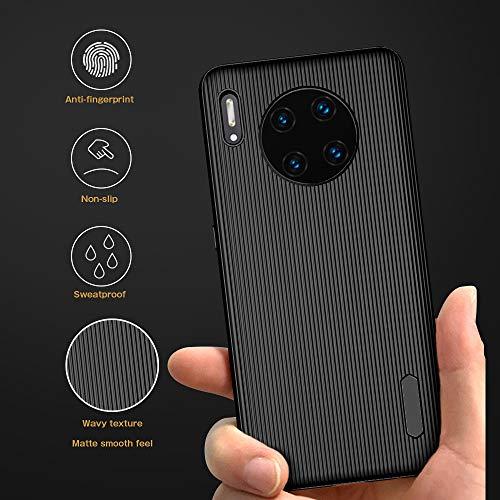 A-VIDET Hülle für Huawei Mate 30 Pro,Ultradünnes Silikon Mattierte Softschale Rundumschutz Anti-Fall Anti-Fingerabdruck Gehäuse Einfache Rückenschutzhülle für Huawei Mate 30 Pro (Schwarz) - 5