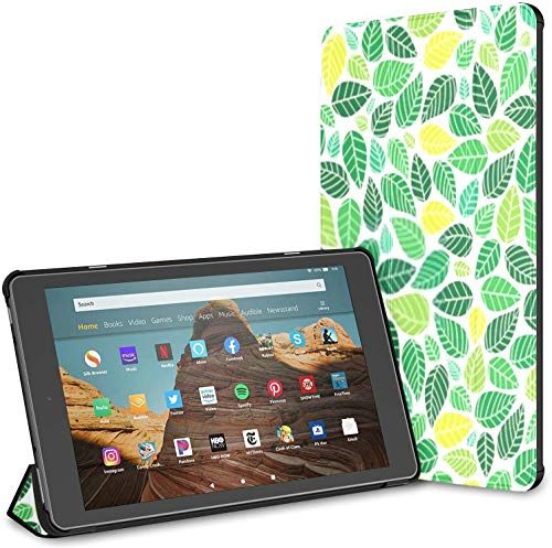 Case for All-New Amazon Fire Hd 10 Tablet (7th and 9th Generation,2017/2019 Release),Abstract Colorful Leaves Background Pattern Il Case Cover with Auto Wake/Sleep