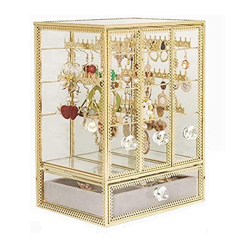 Adesign Caja de joyería Organizador de joyería Caja de Caja de Almacenamiento Titular de la Caja Mujeres Chicas Joyería Caja para Pendientes Anillos Collares Pulseras Pendientes Regalo