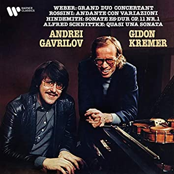 Weber, Rossini, Hindemith & Schnittke: Works for Violin and Piano