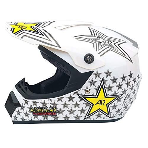 Casco de Motocicleta para Hombre, Casco de Motocross Todoterreno, ATV Dirt Bike Downhill MTB DH, Casco de Carreras