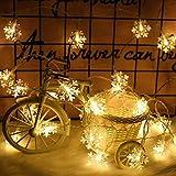 Illuminazione natalizia Fiocco di neve Fata Luce LED Ghirlanda di luce Stringa di Natale Decorazione di nozze Stringa di luce usb 6m60 led