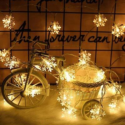 Iluminación navideña Copo de nieve Luz de hadas Guirnalda LED Cadena de luz Decoración de boda de Navidad Cadena de luz usb 3m30 leds