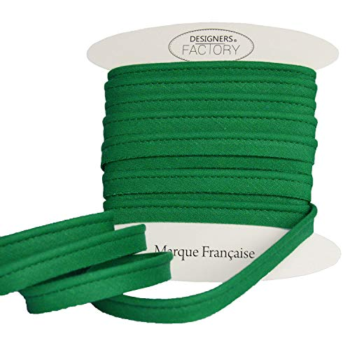Cordino in cotone per cuscino - Piping bias - Qualità molto bella - Disponibile in oltre 20 colori (Di 5 metri, Verde)