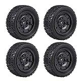 RC Crawler Neumático, 4pcs/Set Camión Militar RC Neumáticos de Goma para WPL C14 C24 Control Remoto Crawler Car(No Holes)