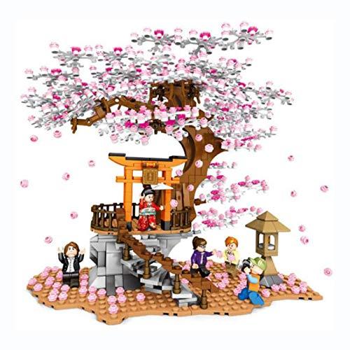 JYING Modules d'arbre Sakura Avec Placa de Base Tree House Tree House Adventure Toy Compatible Lego blocs de jonction de Construction adaptés aux adultes et aux Enfants