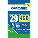 Lycamobile $29 Plan 1st Month Included SIM Card