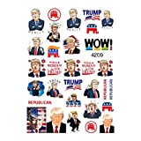 30 Republican Donald Trump 2020 Presidential Elections Professional Quality Waterslide Nail Stickers for Nail Art Design (One Sheet)