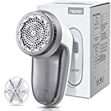 Aerb Fabric Shaver, Rechargeable Electric Lint Remover with USB Charging Cord & Extra Blade Included, 2-Speeds Portable...