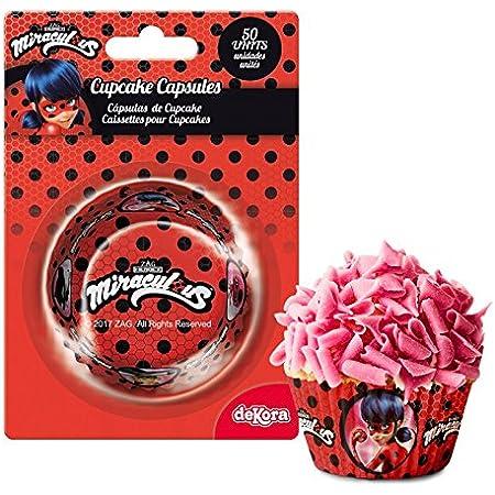 Lot 50 Caissette à Cupcake Ladybug Miraculous - Anniversaire Gouter 296