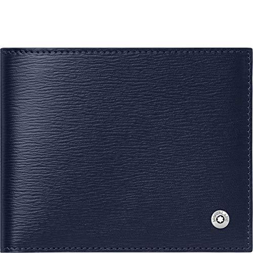 Montblanc 118653 4810 Westside -  Cartera (Piel de Vacuno,  11, 5 x 9 cm),  Color Azul