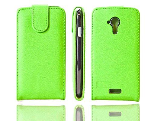caseroxx Flip Cover für Mobistel Cynus T5, Tasche (Flip Cover in grün)