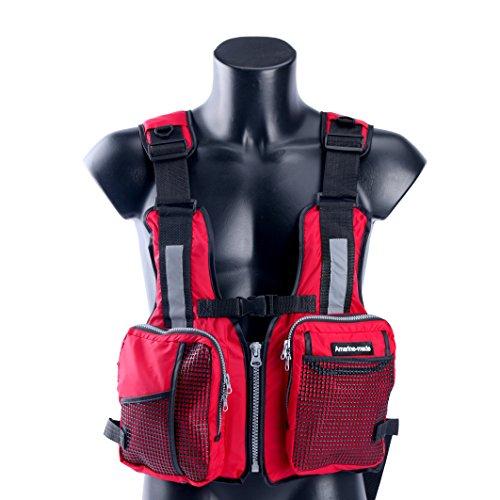 Amarine Made Boat Buoyancy Aid Sailing Kayak Fishing Life Jacket Vest (Red)