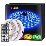 MINGER RGB LED Strip Lights for Living Room, Home, Kitchen, Party, Remote Control, 2 rolls of 16.4ft