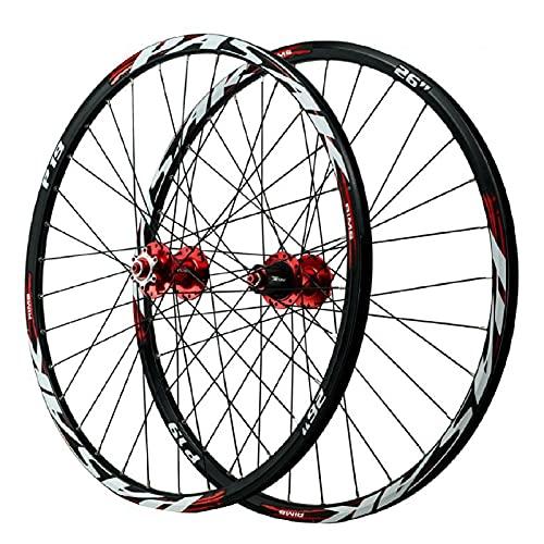 ZPPZYE Ruedas de MTB 26 27,5 29 Pulgadas Aleación Aluminio Ruedas Bicicleta Montaña Borde Remache 100mm / 135mm para 7/8/9/10/11/12 Velocidad (Size : 27.5 Inch)