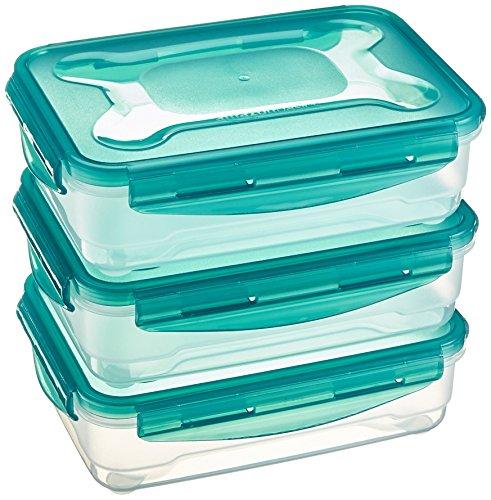 AmazonBasics - Set di contenitori a chiusura ermetica per alimenti, 3 pezzi da 1,2 L