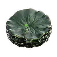 現実的 生き生き 人工水草 蓮の葉 緑 水族館 水槽 飾り 視覚効果 造花 - #2