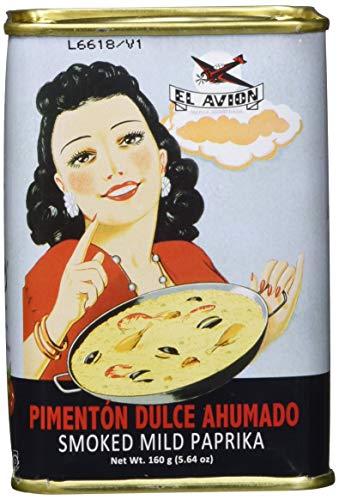 El Avion Pimentón Dulce Ahumado - süßes Paprikapulver, geräuchert aus Spanien/Valencia in einer attraktiven Dose (160 g)