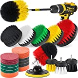 Best Drill Brushes - Holikme 26Piece Drill Brush Attachments Set,Scrub Pads Review