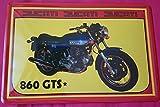Cartel de chapa 20x 30cm Ducati 860GTS Moto Bike Publicidad Metal Cartel
